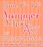 Summer School Art at PAJAMA MAMA