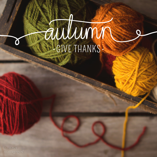 Autumn: Give Thanks