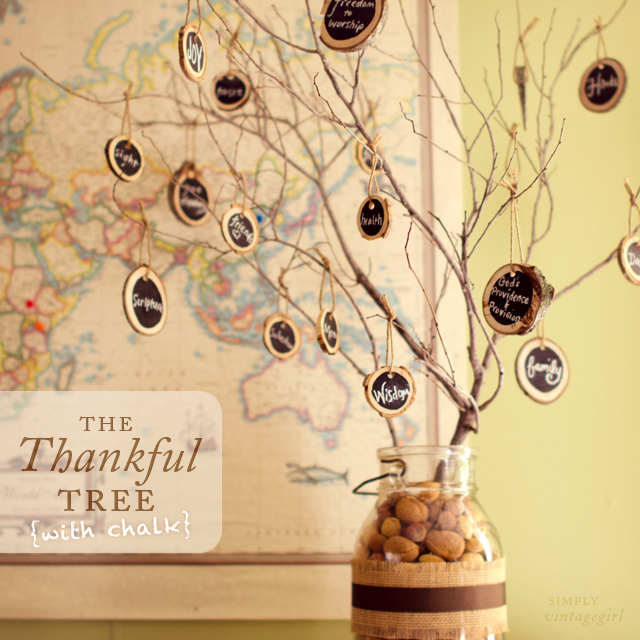 The Thankful Tree (with Chalk)