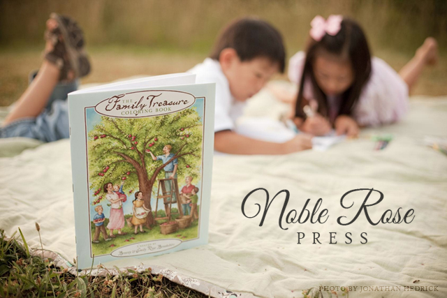 The Family Treasure Coloring Book Noble Rose Press